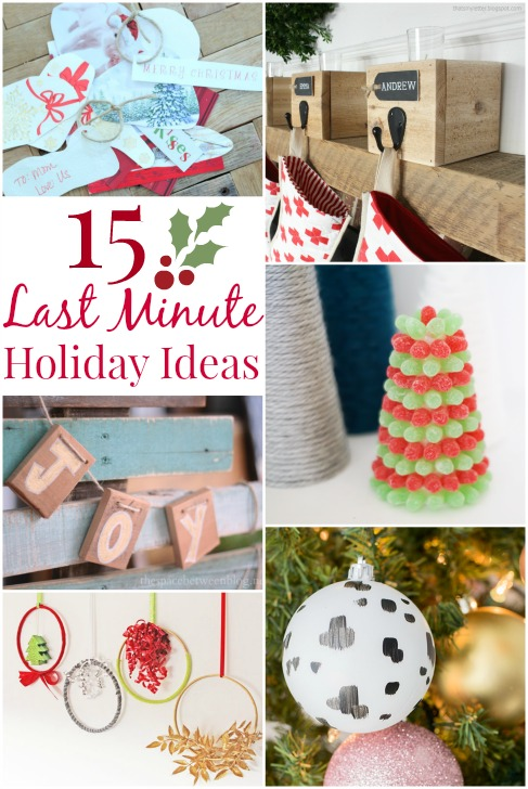 15 great last minute holiday ideas, so many fun ideas using what you probably already have in your stash