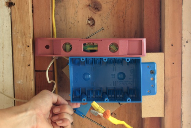 installing a light switch box