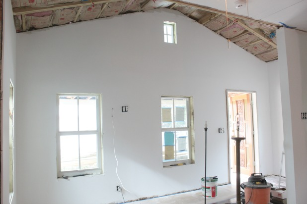 My thoughts on installing drywall when you re working with for Drywall designs living room