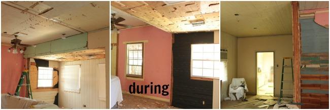 living room demolition