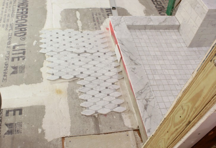 laying irregular tile