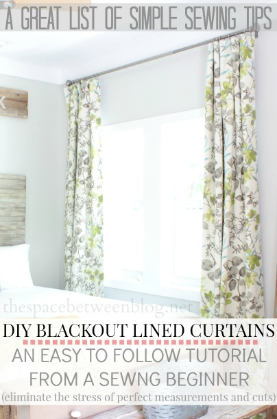making curtains with blackout lining great sewing tips included as well from