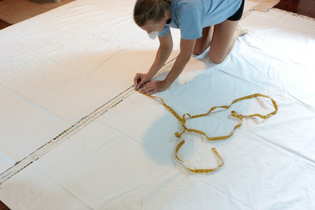 making curtains - pinning