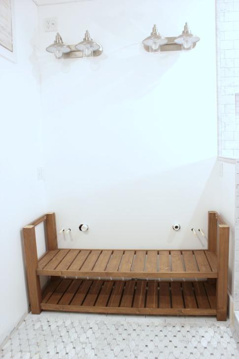 DIY wood vanity