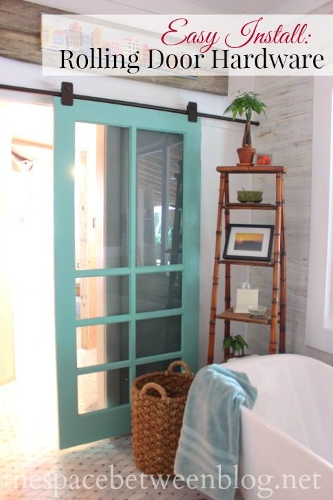 easy to install rolling door hardware, step-by-step instructions (including what you really need to get right!) from thespacebetweenblog.net