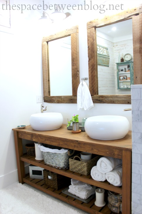 Just some photos of our new rustic bathroom for Modern rustic design definition