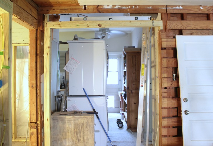 Framed Out Opening For Pocket Door Installation
