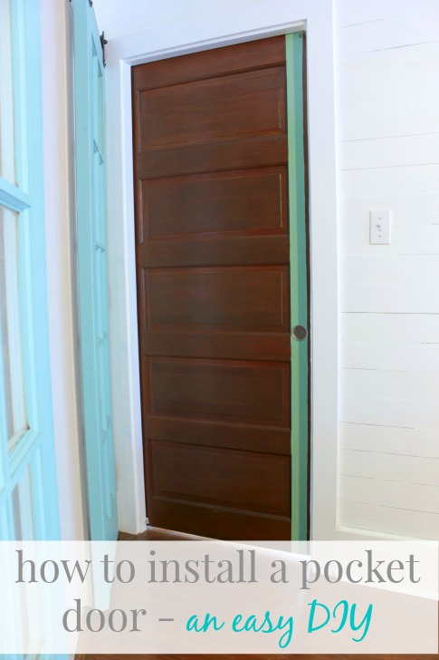 how to install a pocket door - a surprisingly easy diy project