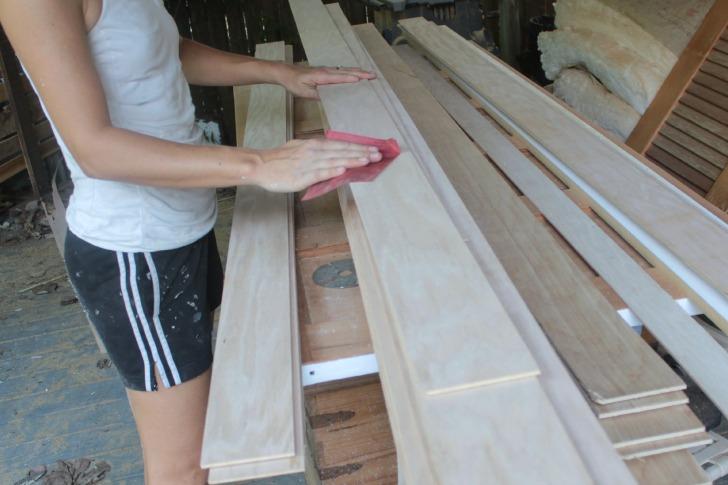 Wood Slat Wall inexpensive diy wood slat walls