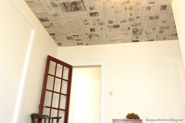 newspaper as a creative wall covering