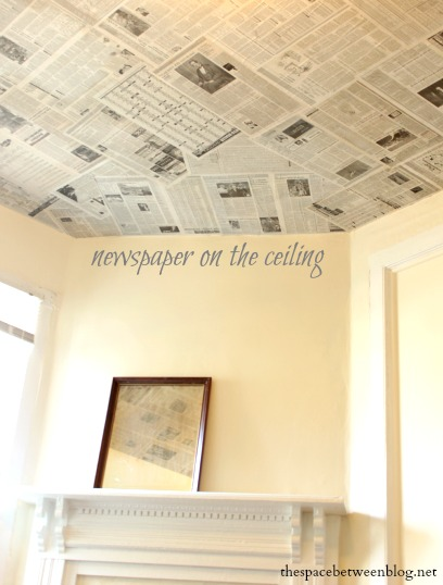 Newspaper as a creative wall covering - Ideas for covering wallpaper ...