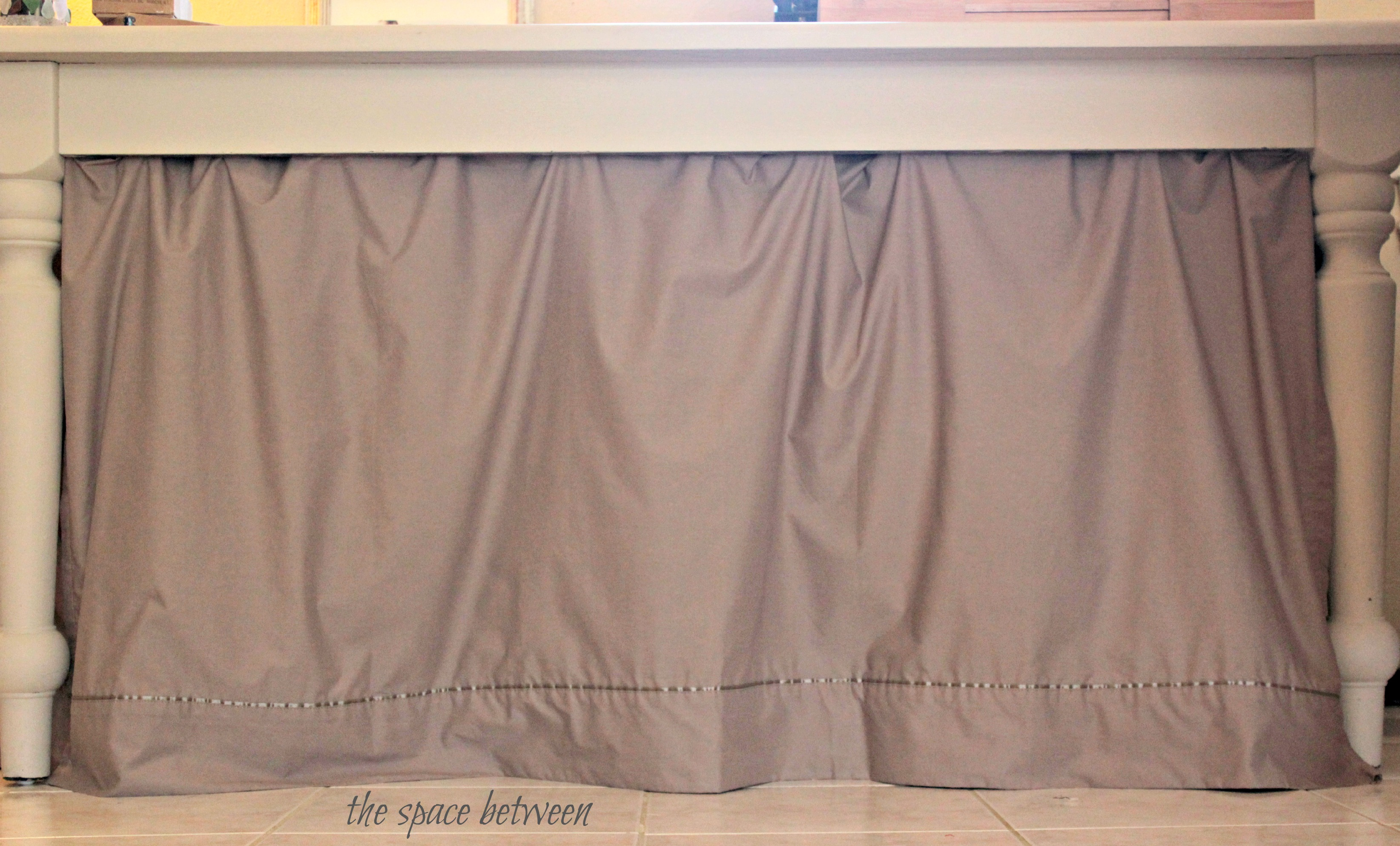 Easy Diy No Sew Curtain The Space Between