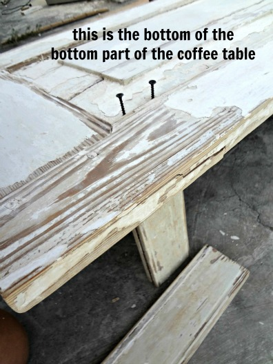 old door upcycle - how to make a coffee table out of old doors