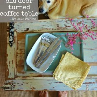how to make a wood coffee table out of an old door {an upcycle tutorial}