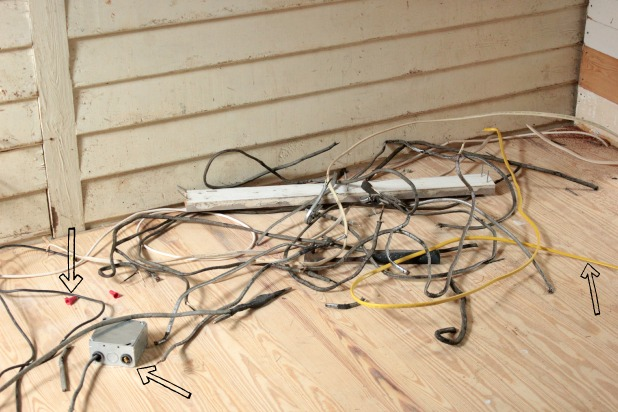 removing old wires
