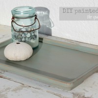 update a tray with chalk paint
