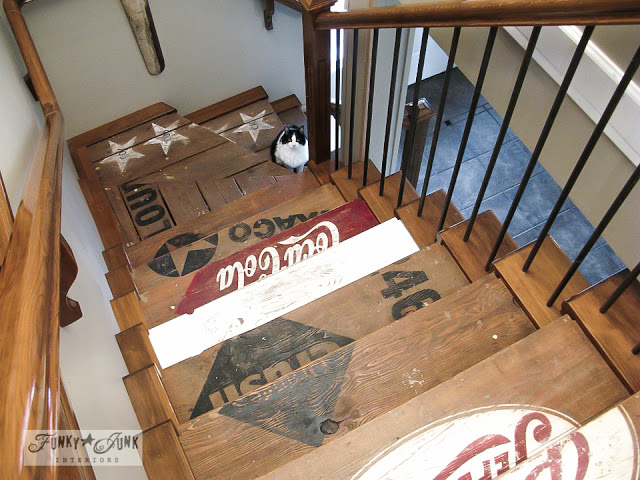 Upcycling Ideas - old crate stairs