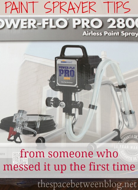 using a paint sprayer