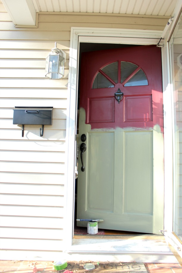 Paint the front door for Exterior door paint