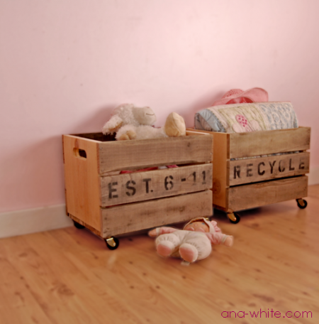 Upcycling Ideas - vintage crate carts
