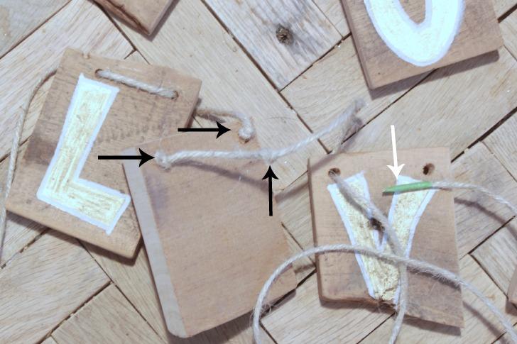 pallet wood garland
