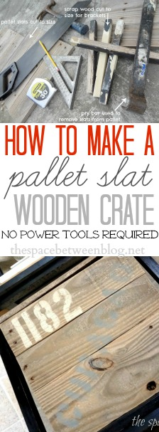 how to make a pallet wood crate