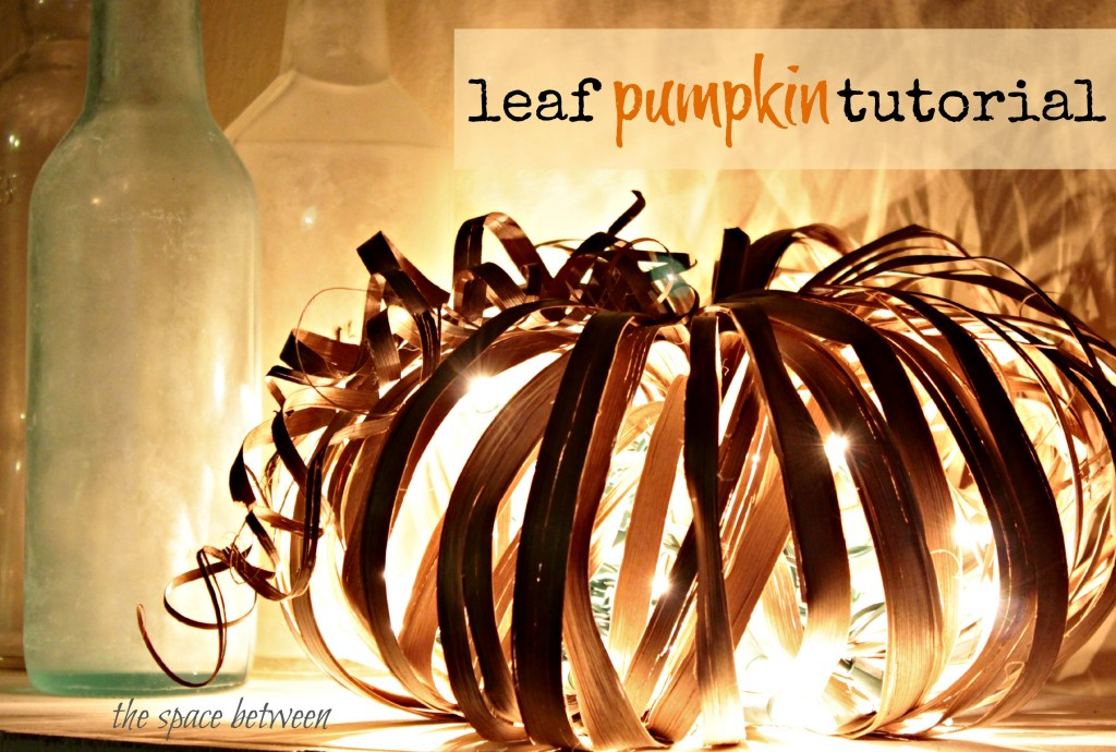 fall craft pumpkin