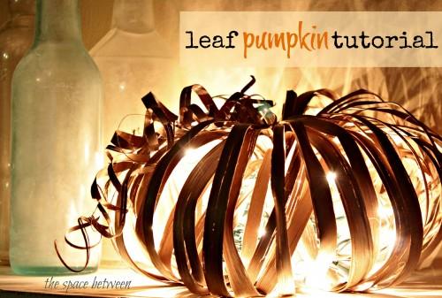 fall craft pumpkin