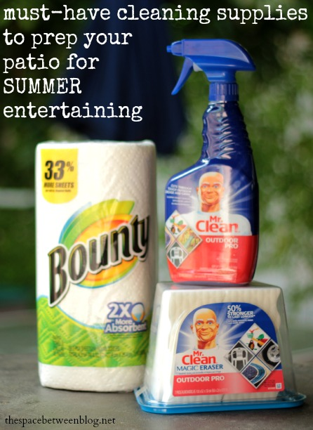 patio cleaning with p&g cleaning products