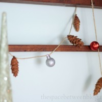 pine cone and mini ornament garland