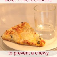 Day #3 – the best leftover pizza microwave tip