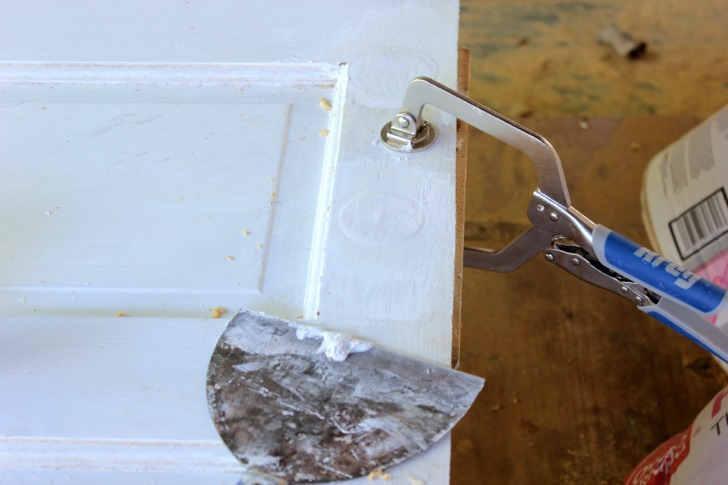 prepping an old door to become a pocket door