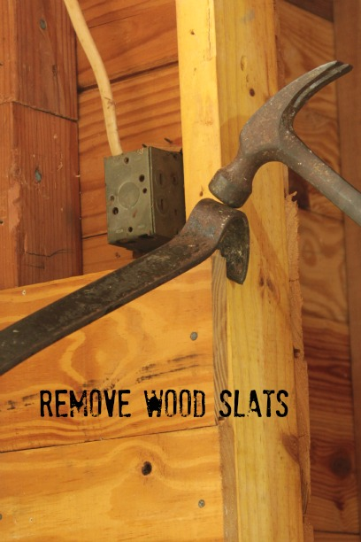 remove wood slats with a pry bar