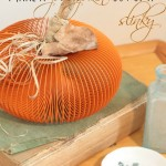 easy pumpkin craft made out of a slinky