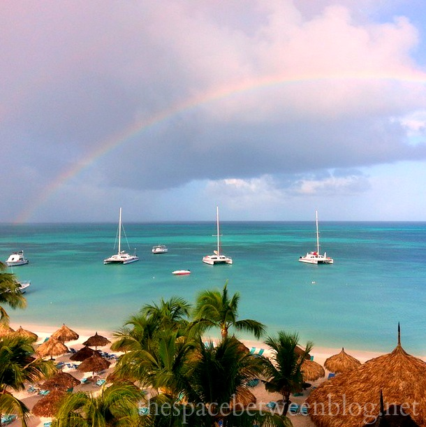 Palm Beach Aruba rainbow