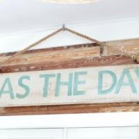 another reclaimed wood sign idea {seas the day}