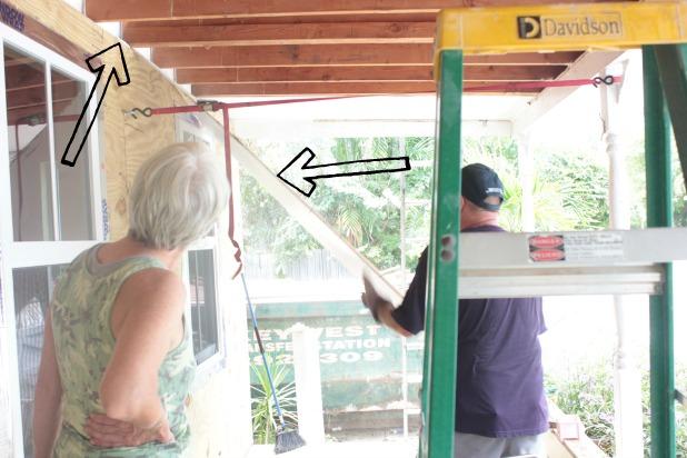 removing porch pylwood