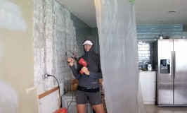 removing tile with a hammer drill