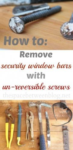 removing window bars