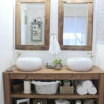 rustic bathroom vanity and mirrors