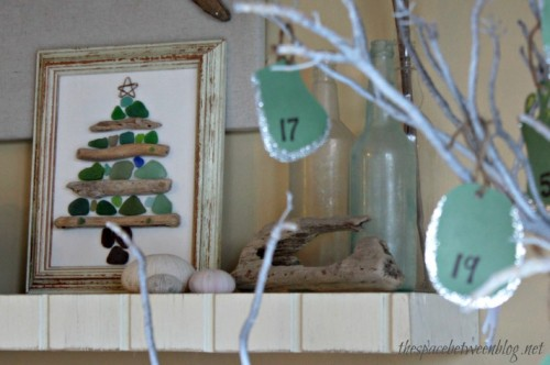 sea glass tree advent tree