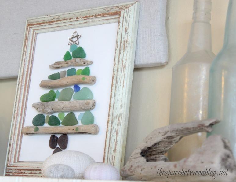 Sea Glass And Driftwood Christmas Craft
