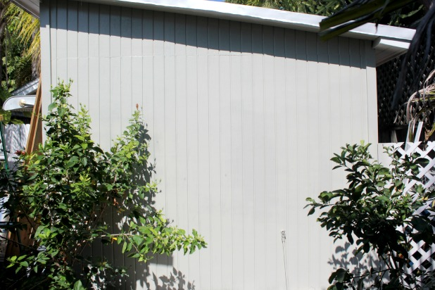 shed painted with paint sprayer
