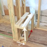 framing a shower bench