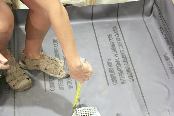final steps to a diy shower pan