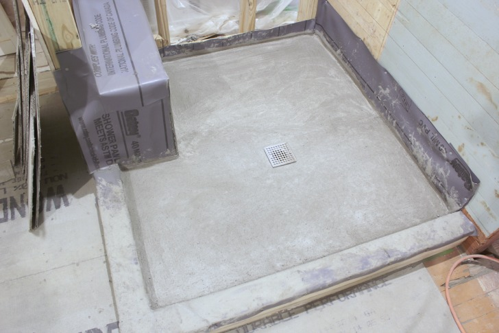 diy shower pan liner final steps