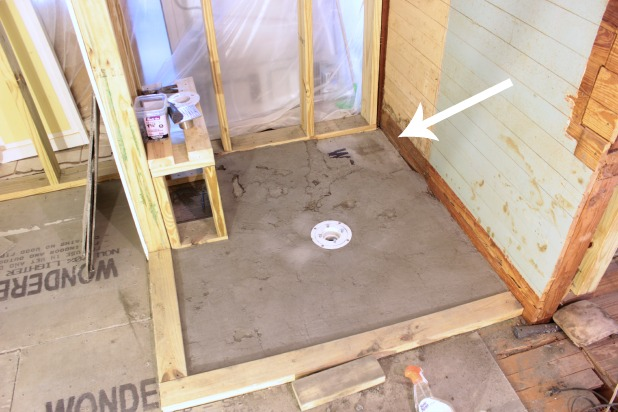 How to diy a shower pan preparation and planning for Tiling bathroom floor preparation