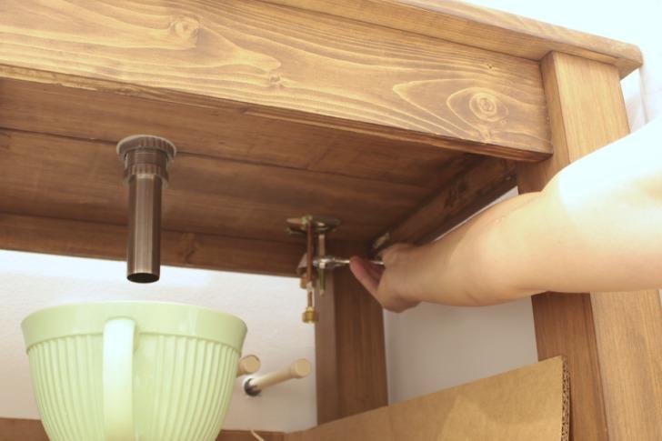sink faucet installation