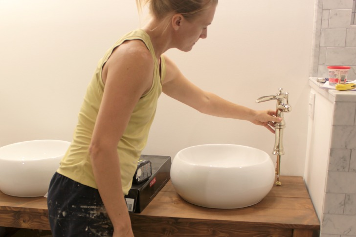 sink faucet installation