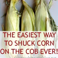the easiest way to shuck corn ever